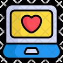 Laptop Love Heart Icon