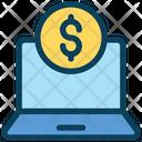 Laptop Money Online Icon