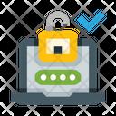 Laptop Lock Unlocked Icon