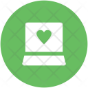Laptop Heart Sign Icon