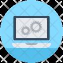 Laptop Settings Cog Icon