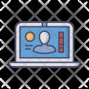 Laptop Id Identification Icon