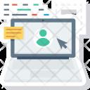 Laptop Online Profile Icon