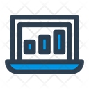Laptop Analytics Icon