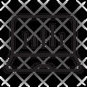 Laptop Analytics Icon