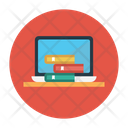 Laptop and books Icon