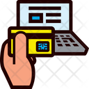 Laptop And Credit Card Icon