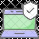 Laptop Antivirus Laptop Security Laptop Protection Icon