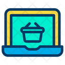 Laptop  Basket Icon