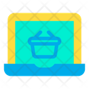 Laptop  Basket Icon