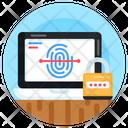 Laptop Fingerprint Laptop Biometric Biometric Security Icon
