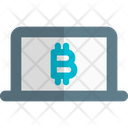 Laptop Bitcoin Icon