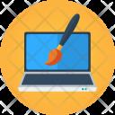 Laptop Brush Paint Icon