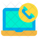 Laptop Call Web Came Video Call Icon