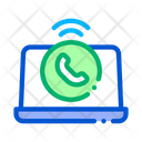 Laptop Voip Calling Icon