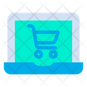 Laptop CartOnline Shopping Icon