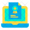Laptop Certificate Icon