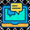 Laptop Chat Icon