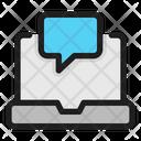 Laptop Chat Laptop Chat Icon