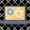 System Setting Laptop Setting Laptop Configuration Icon