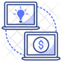 Pc Share Business Icon