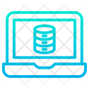 Laptop Data Database Icon