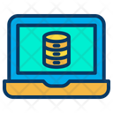 Laptop Data Database Icon