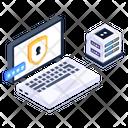 Laptop Data Security Icon