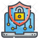 Laptop Digital Security Icon