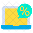 Laptop Discount Icon