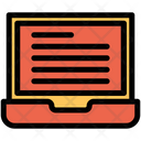 Laptop E Learning Icon