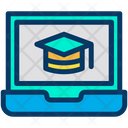 Laptop Education E Learning Icon