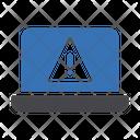 Laptop Error Laptop Warning Laptop Alert Icon