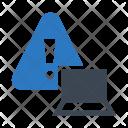 Laptop Alert Device Icon