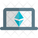 Laptop Ethereum Icon