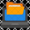 Laptop Folder Online Data Folder Data Folder Icon