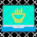 Laptop Food Icon