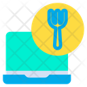Laptop Food Online Food Icon