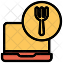 Laptop Food Icon