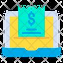 Laptop Invoice Bill Icon