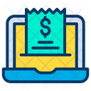Laptop Invoice Bill Icon
