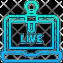Online News Live News Laptop Icon