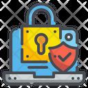 Laptop Lock Security Icon