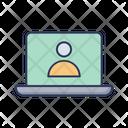 Laptop Screen Login User Profile Icon