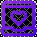 Laptop Love Icon