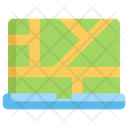 Laptop Map Icon