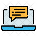 Laptop Computer Chat Icon