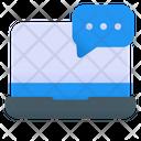 Laptop Message Laptop Chat Icon