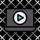Laptop Video Player Icon