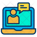 Laptop Online Chat Icon